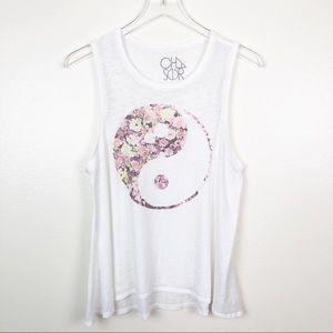 CHASER l YIN YANG Floral Tank Top